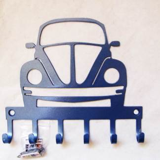 metal volkswagen beetle wall hooks, vw bug sign