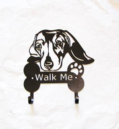 dachshund metal leash hooks leash holder
