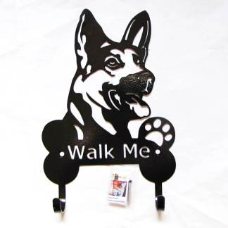 german shepherd metal leash hooks leash holder