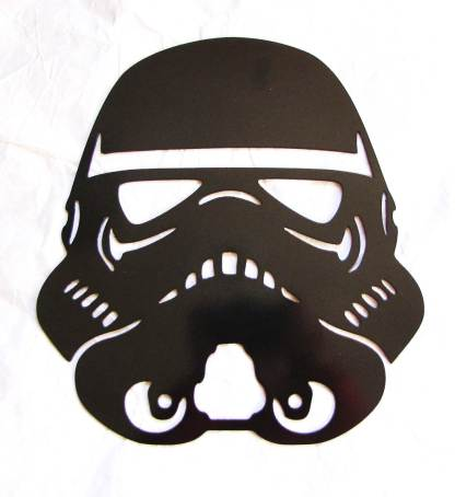 star wars storm trooper helmet metal art