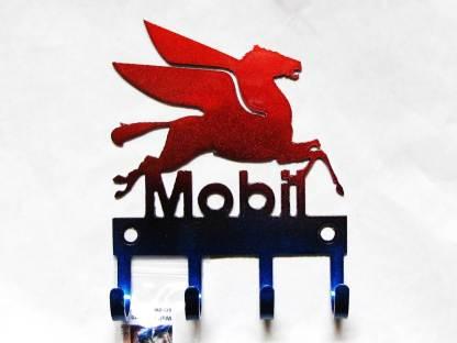 mobil oil metal wall hooks, key holder