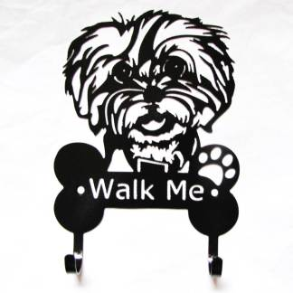 bichon frise metal leash hooks, leash holders