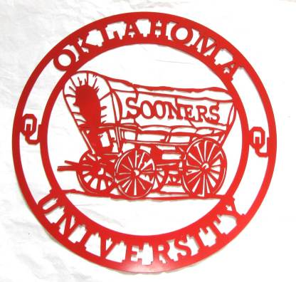 University of Oklahoma Metal Sooners Sign