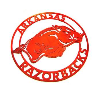 Arkansas razorback metal wall sign