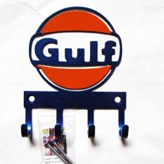 gulf oil metal wall hooks, key holder