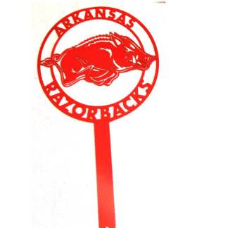 Arkansas razorback metal yard sign