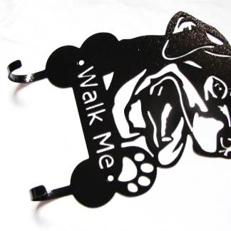 rottweiler metal leash hooks, leash holder