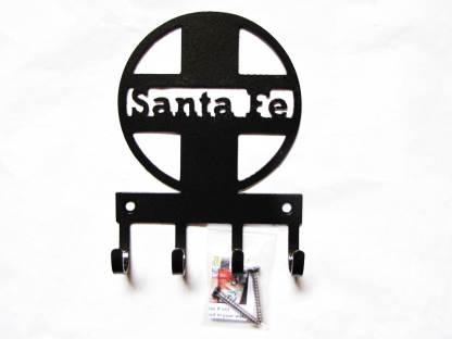 santa fe logo metal wall hooks, key holder