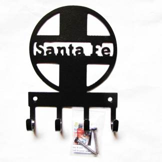 santa fe logo metal wall hooks, key holder