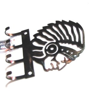 Indian Chief Wall Hooks Side View