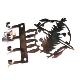Oklahoma state flag symbol metal wall hooks