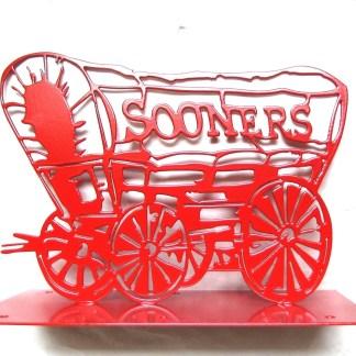 CUSTOM OU Schooner Mailbox Topper w/Plate