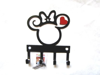 minnie curly head metal wall hooks, key holder