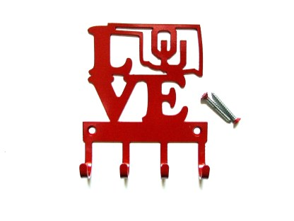 metal university of oklahoma love ou wall hooks