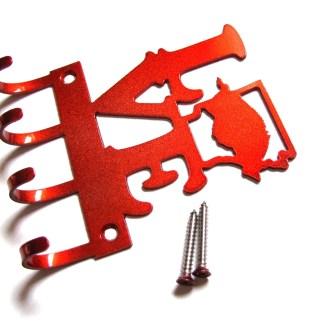 metal lovbe arkansas razorback wall hooks key holder