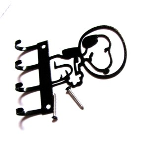 metal snoopy astronaut wall hooks