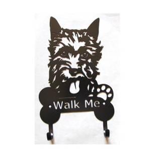 LH Scottish Terrier Metal Leash Hooks, Leash Holder