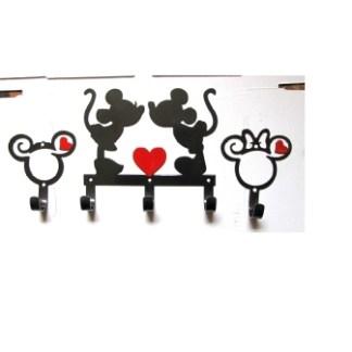 CUSTOM 1H Mickey/Minnie Curly Head & 3H MM Kissing
