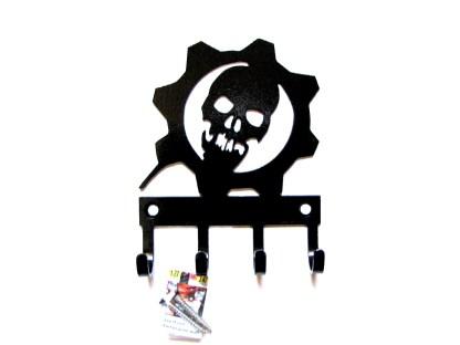 metal gears of war wall hooks, key hooks, key holder