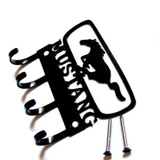 metal mustange logo wall hooks, key hooks, key holder, key hanger