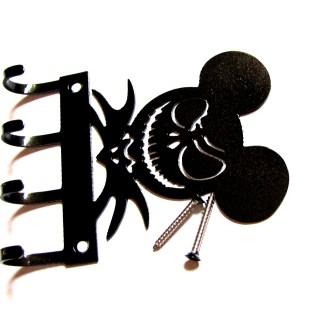 metal mickey skellington wall hooks key holder