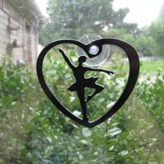 metal ballet window ornament window art