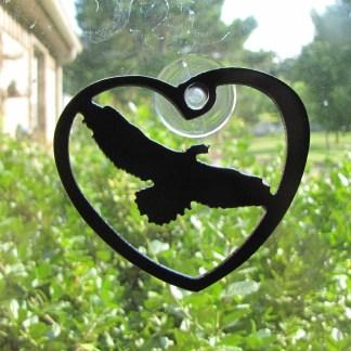 heart eagle window ornament window art