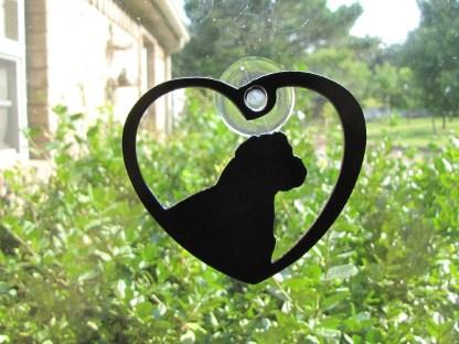 metal english bulldog window ornament window art