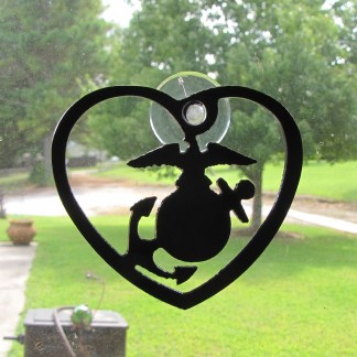 metal marines window art window ornament