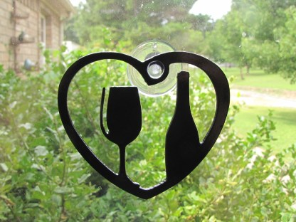 metal wine window art windor ornament