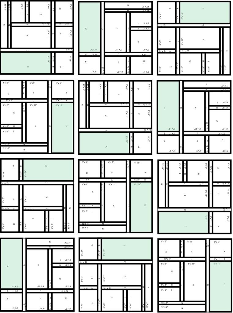 Quilt layout