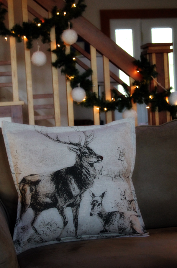 Rudolph the Red-nosed Reindeer Pillow, Envelope Style from tea towel