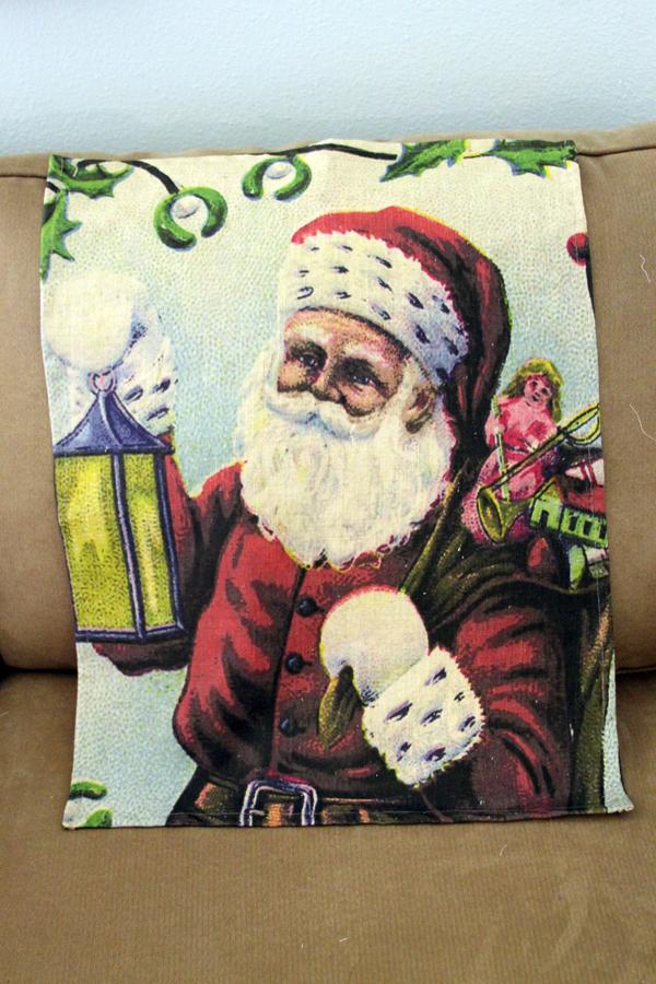 santa tea towel