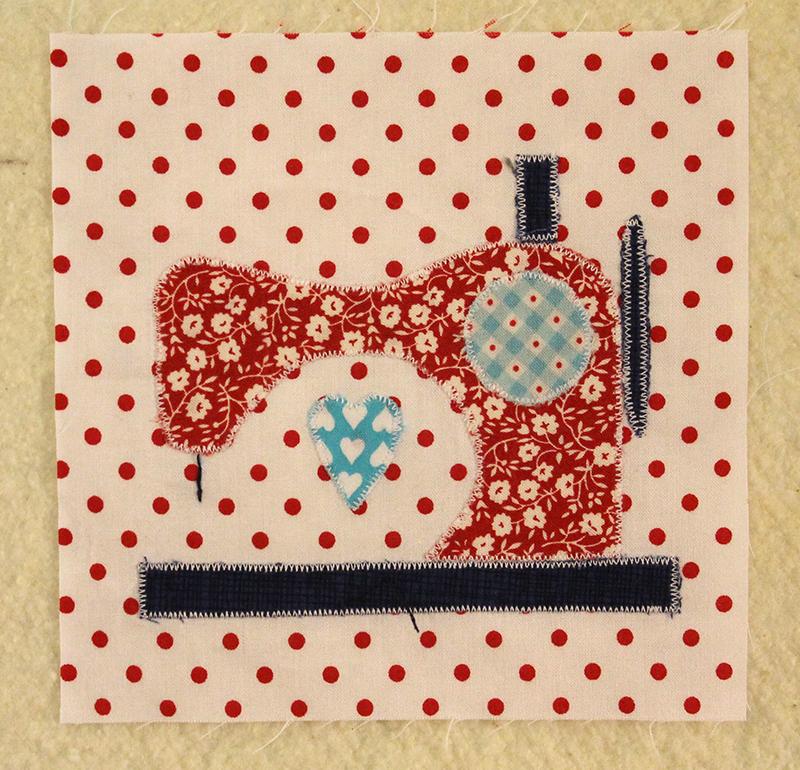 Block 27 -- Sewing Machine, The Splendid Sampler