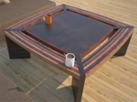 Contemporary Unique Coffee Tables, Striped Solid Wood Design