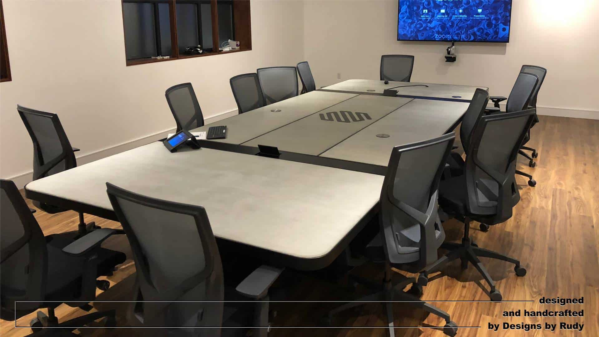 Conference Room Table Concrete and Steel Design