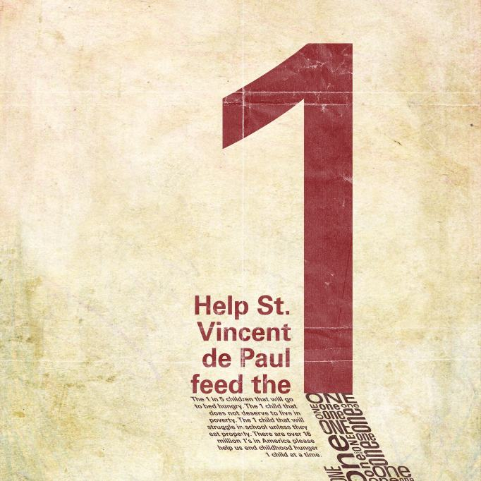 St. Vincent de Paul Typography Poster