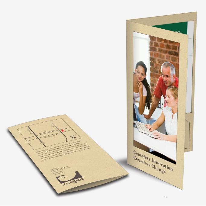Mini Pocket Folder Brochure Design