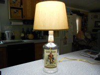 How to Make a Lamp with a Liquor Bottle for the Man Cave ...