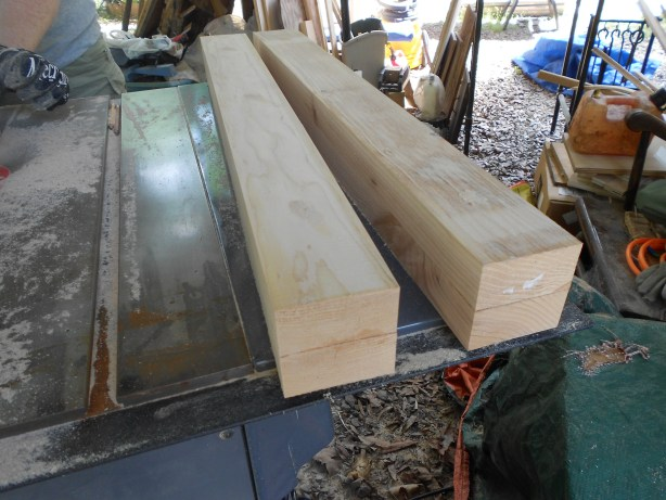 how to build table legs or posts from 2x4s Nikon pics 071