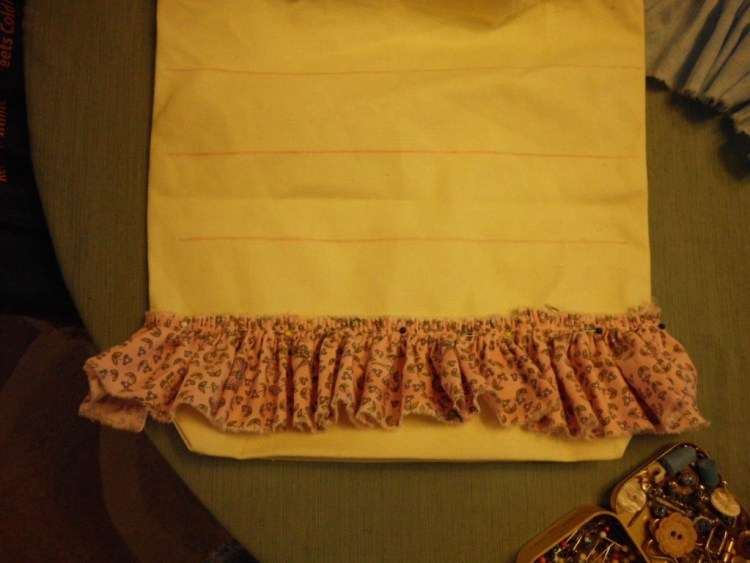 How to Make a Ruffled Tote Bag SANY0651