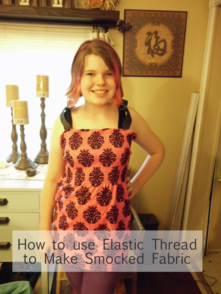 How to Use Elastic Thread to Make Smocked Fabric SANY0781 copy