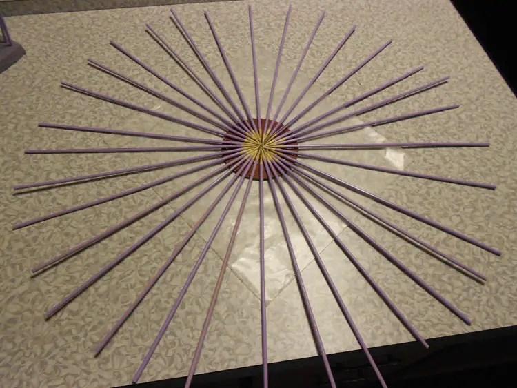 How to Make a Mirrored Sunburst Wall Art Piece DSCN0361