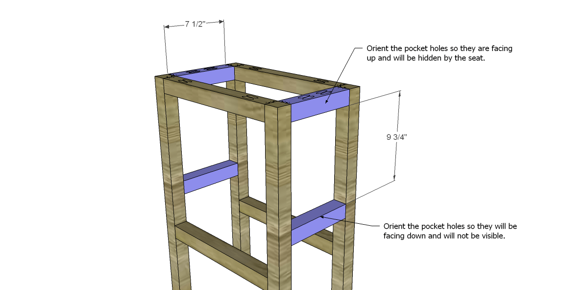 Free Plans to Build a Simple 30 Barstool Designs by  : BarstoolSide Stretchers from designsbystudioc.com size 1200 x 591 png 71kB