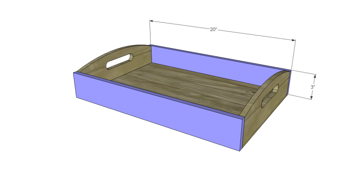 free plans to build frontgate inspired ellington trays_Sides