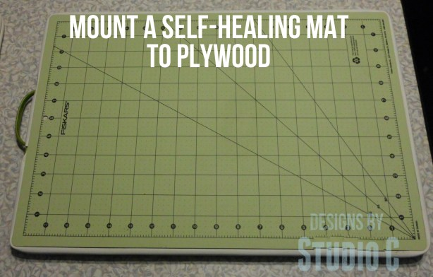 How to Mount a Self-Healing Mat to Plywood SANY1209 copy3