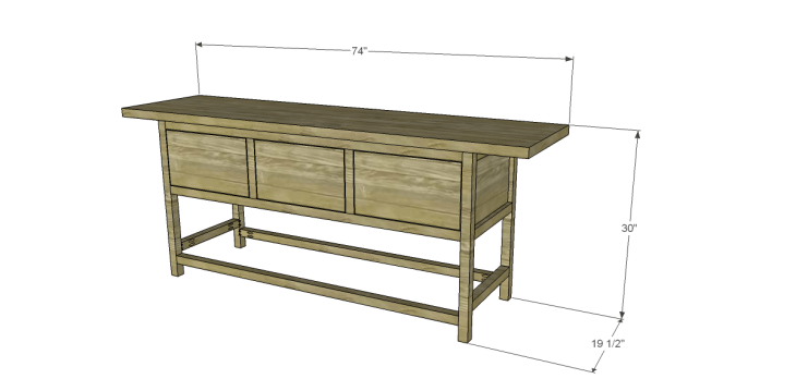 free plans to build a wisteria inspired chinese butcher table