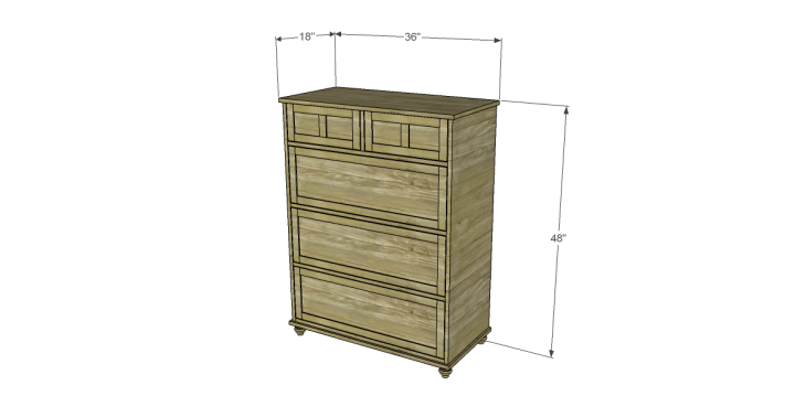Free Plans to Build a Pier One Inspired Ashworth 5-Drawer Dresser