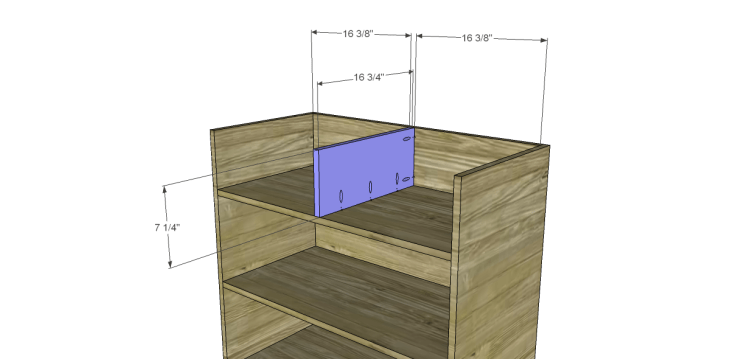 Free Plans to Build a Pier One Inspired Ashworth 5-Drawer Dresser_Divider