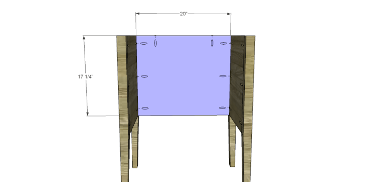 Free Plans to Build a Wisteria Inspired Dreamy Bedside Table_Back